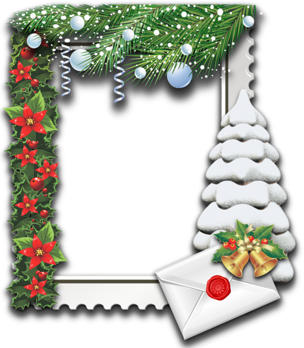 frame snow tree png