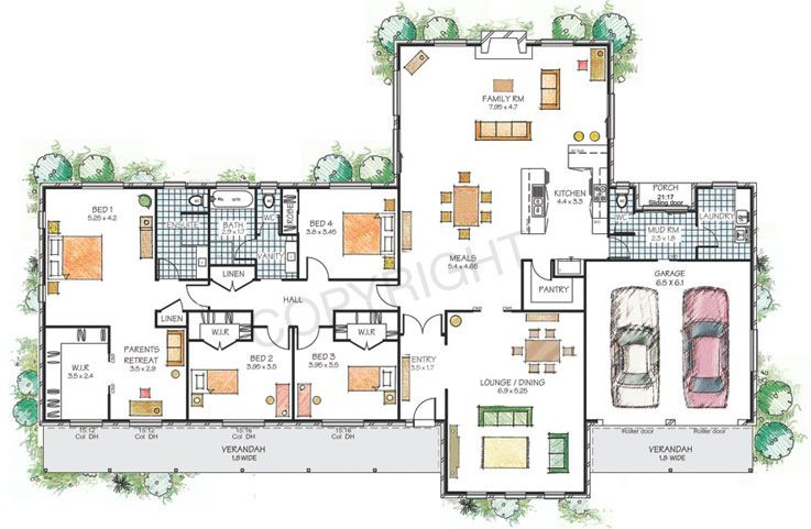 floor plans for large families   hartley paal kit homes floor    floor plans for large families   hartley paal kit homes floor plans and illustrations copyright paal       inspiration   Pinterest   Kit Homes  Floor Plans