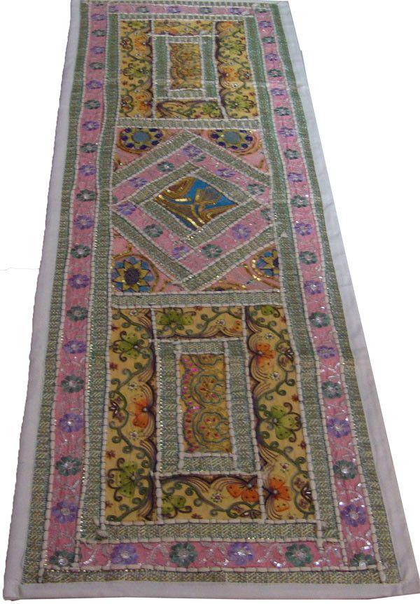 Ethnic Indian Hand Crafted Embroider ZARI Work Wall Hanging Home Decor Folk Art   eBay