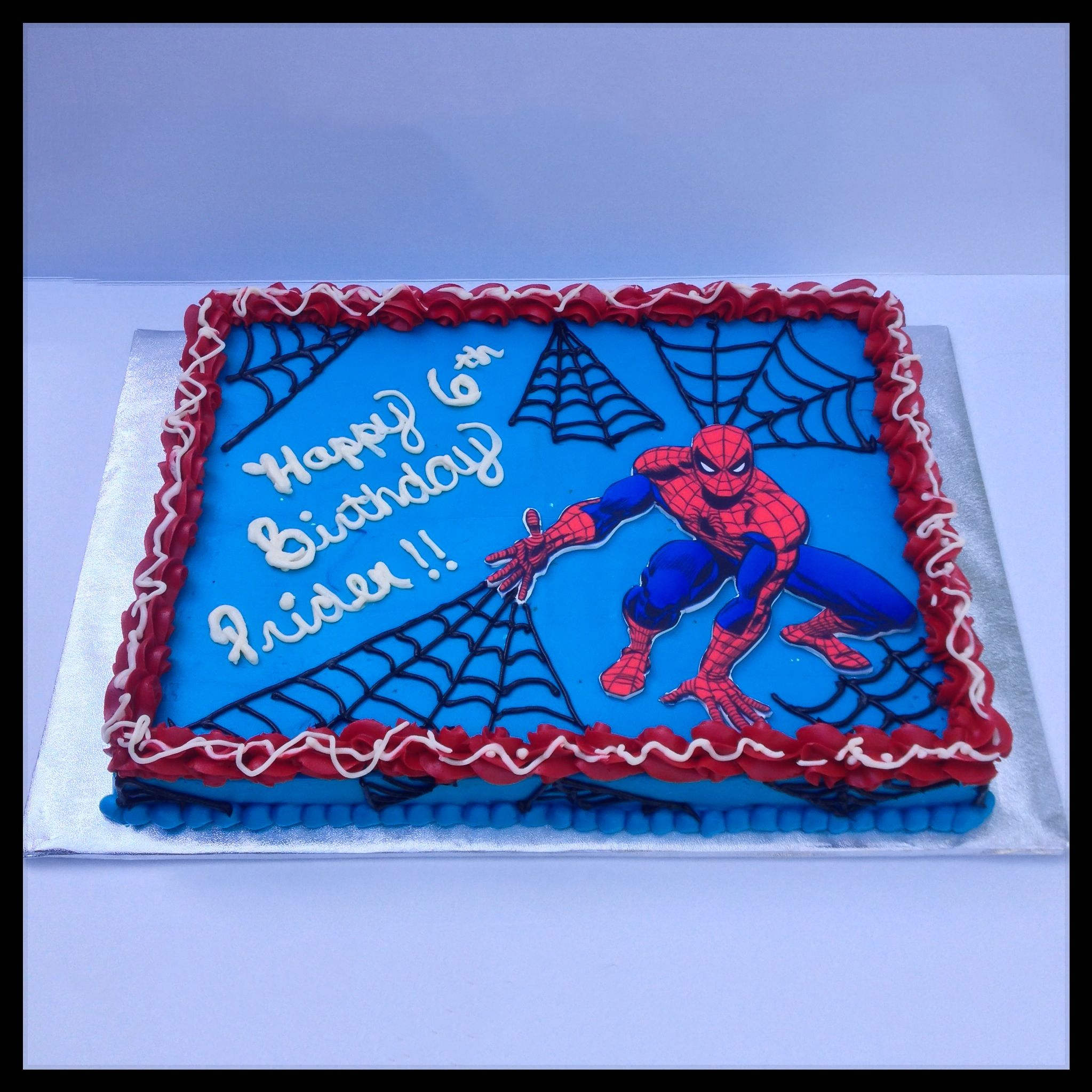 SpiderMan Sheet Cake tourtes Pinterest SpiderMan Spider and