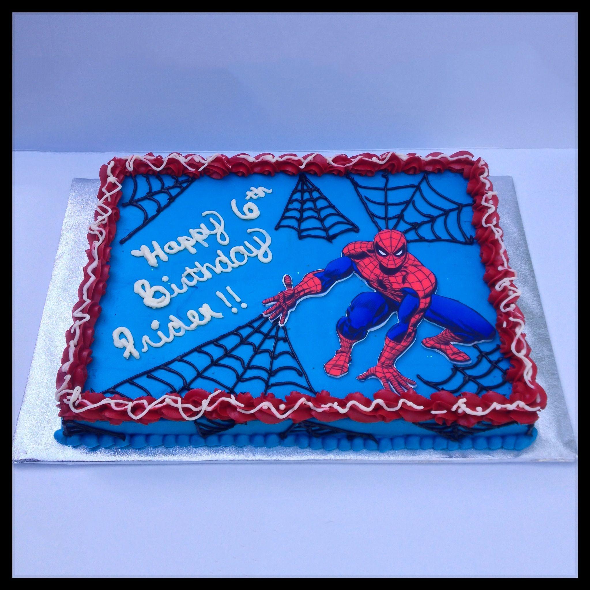 Spider Man Sheet Cake Spidermannnm Levis Turning 3 In 2019