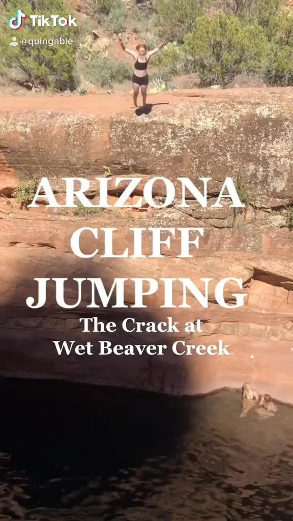 ARIZONA TRAVEL: Cliff Jumping at Wet Beaver Creek