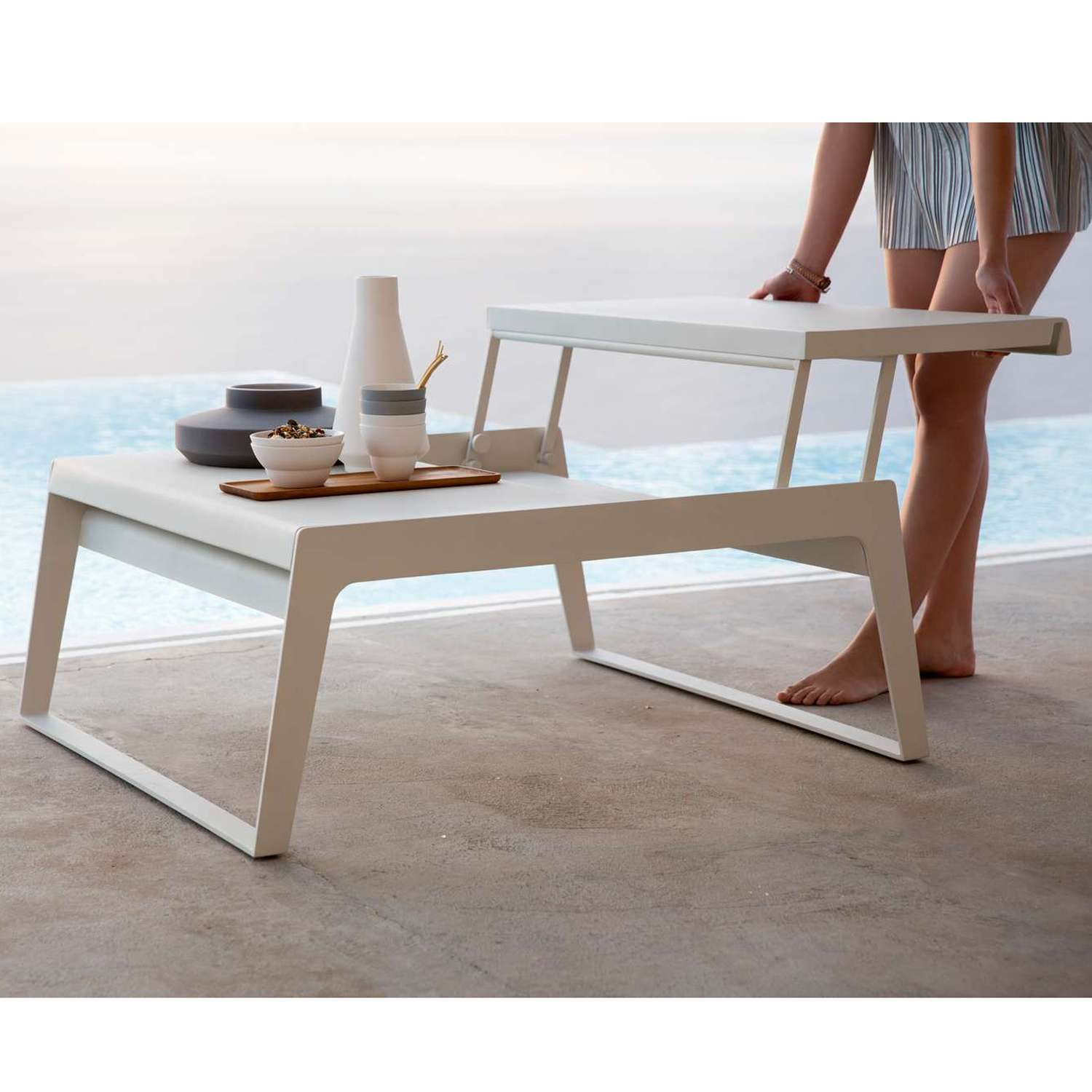 Both Sleek And Practical, The Chill Out Dual Height Coffee Table Is One  Modern Outdoor