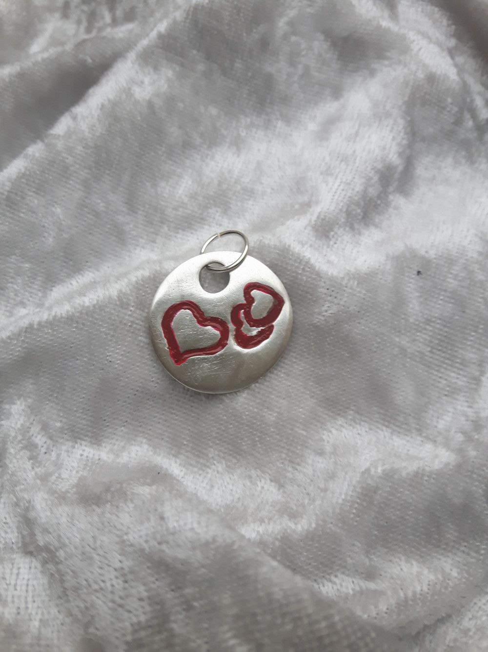 """Silberanhänger Amulett """"Herzen"""" 999 Feinsilber ein"""