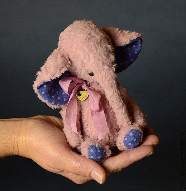 """Купить Слоник """"Ангел"""" карманный размер, 16 см. - брусничный, слоник, слон, слоненок, слоники"""