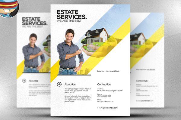 realtor flyer template by flyerheroes via behance property flyer