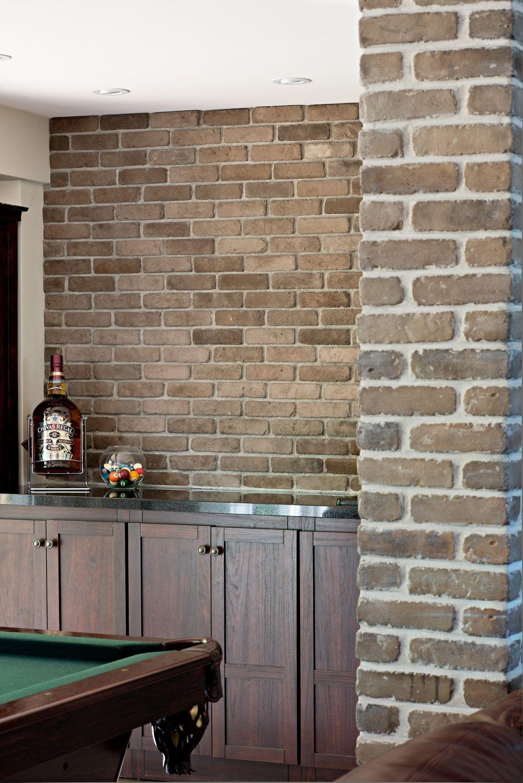 Thin Brick Veneer Stone Natural Thin Stone: Stone Selex - Thin Brick Veneer, Indian Brown