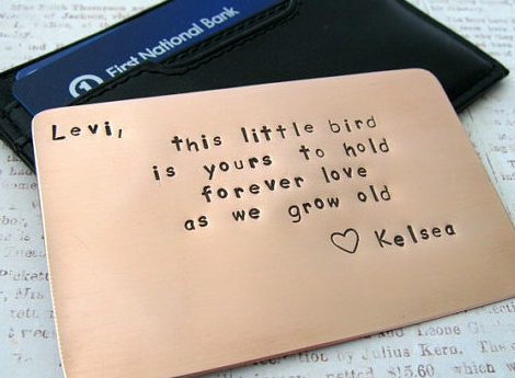 Good To Give In A Wallet As Present! Personalized Wallet Insert By Rame  Works @