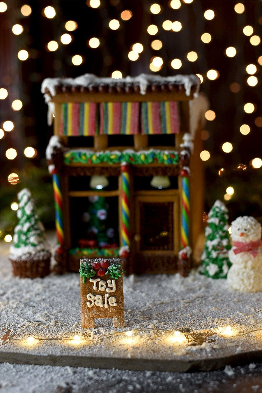 Victorian Storefront Gingerbread House | Recipe | Gingerbread house ...