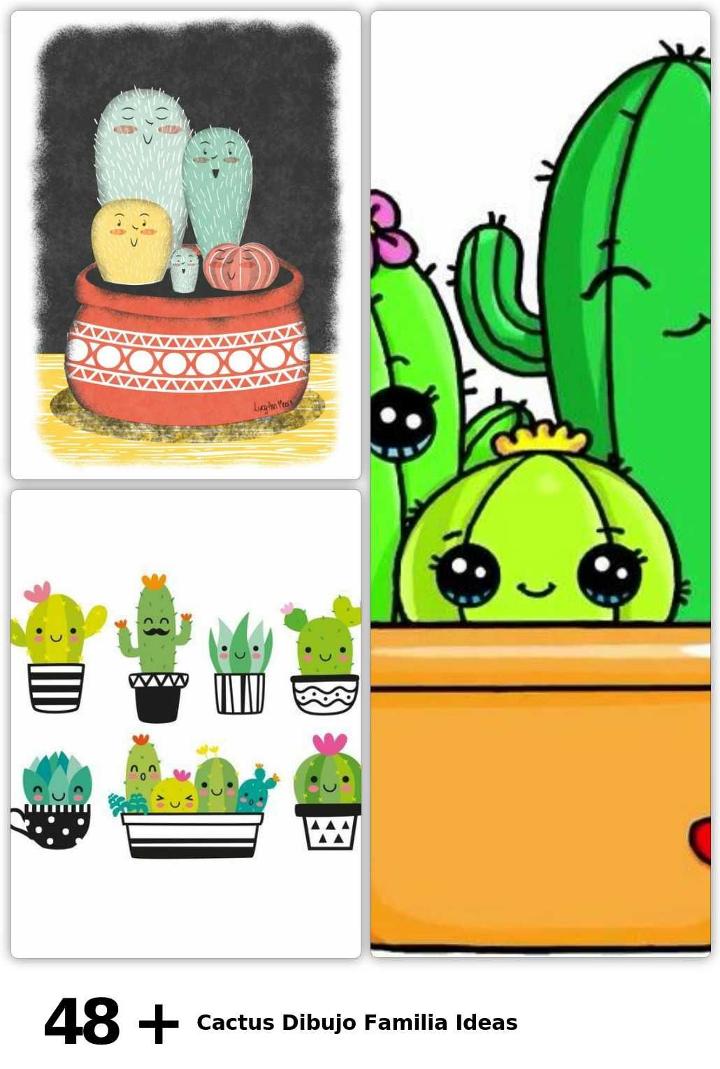 Photo of 48 Cactus Drawing Family Ideas