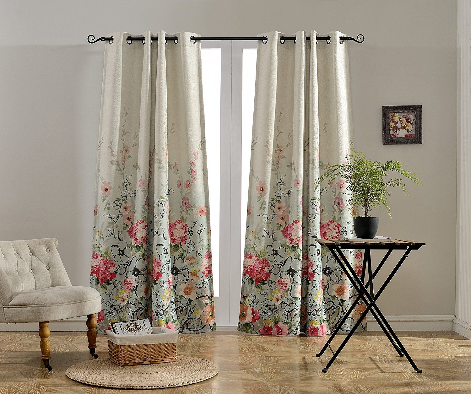 eyelet faux printed curtains heading linen eos made newspaper custom
