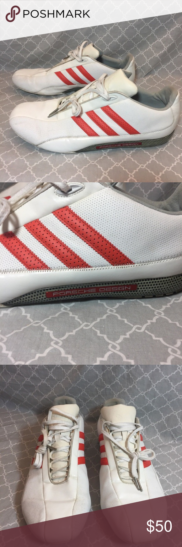fc8922c4e Adidas Porsche Design S2 Men s Size 13 Adidas Porsche Design Driving  Sneakers. Size 13. White and Orange. In Good Condition. Some Marks From  Wear But In ...