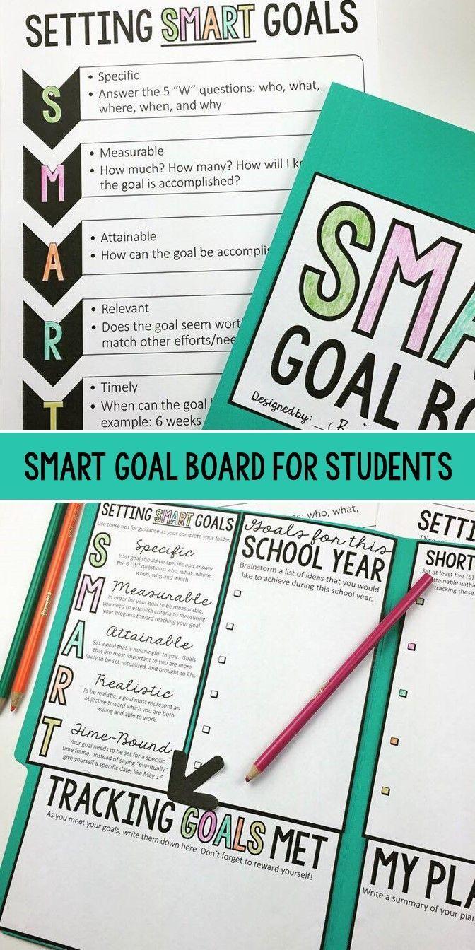Create a SMART Goal Board SMART GOALS Goal board, Goals