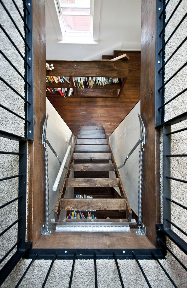 Attic pull down stair Hatchway   Stairs, Attic spaces ...