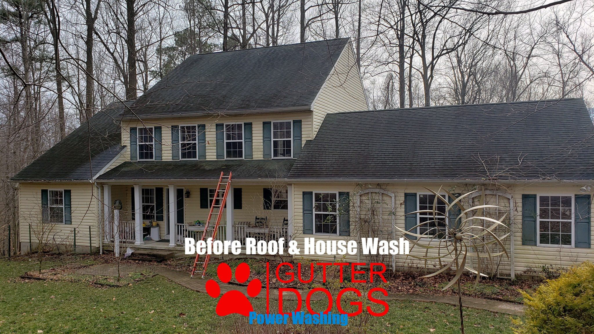 Roof Cleaning Package Deal In Chesapeake Beach Maryland Included Roof Cleaning House Washing And Gutter Cle In 2020 Roof Cleaning Chesapeake Beach Maryland House Wash