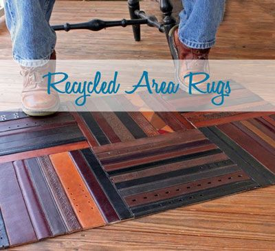 Various Area Rugs All Made From Either 100 Or Close To Recycled Materials