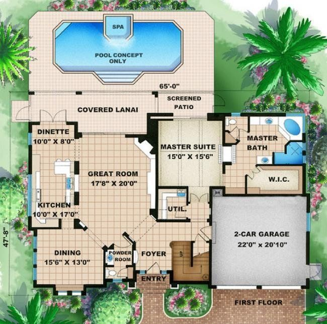 3 Bedroom 4 Bath Coastal House Plan ALP 08EZ