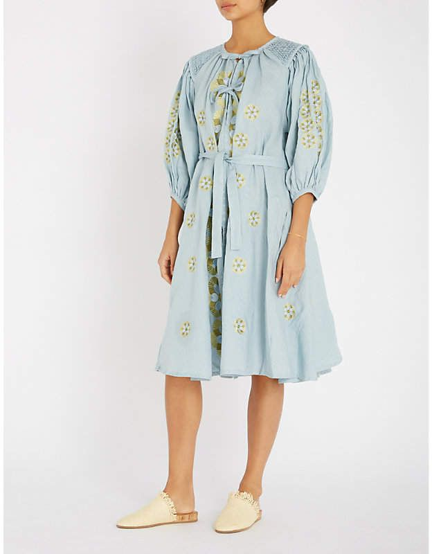 c43b2b1bcbe INNIKA CHOO Embroidered linen smock dress
