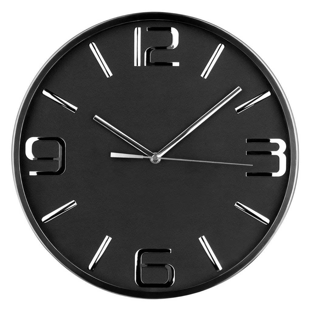 Wall clock stainless steelblack face clocks pinterest wall buy premier housewares wall clock from our clocks range at tesco direct amipublicfo Image collections