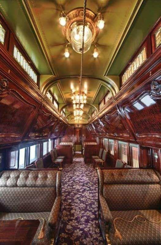 Restored Pullman Train Car Ca 1900 Pullman Train Luxury Train Old Trains
