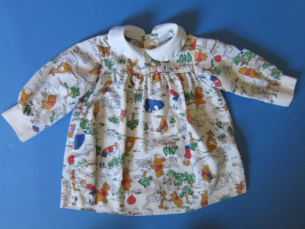 Sears Baby Clothes Winnie The Pooh Perma Press Shirt 1970 S Rare 2T Girl's Back Button