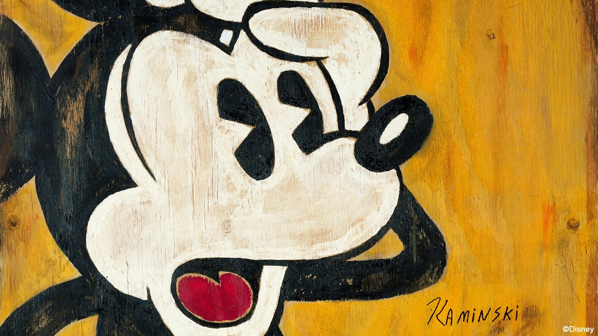 Minnie Y Mickey Mouse Fondos De Pantalla: 1920x1080 Mickey Mouse Disney Wood Painting HD Wallpaper