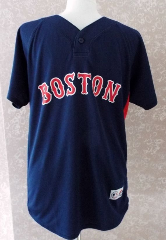 Boston Red Sox Jersey Shirt Majestic MLB Away Cool Baseball Youth L Large  14 16 666c8c89d