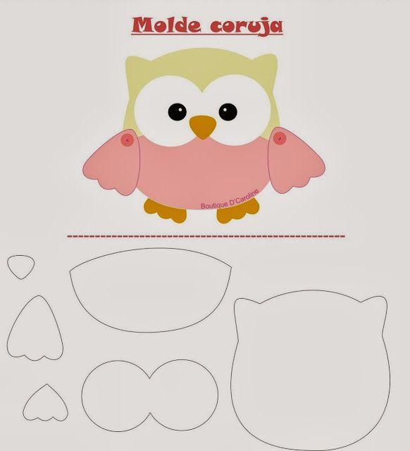 Molde Coruja Boutique D\' Caroline   Pinterest   Owl patterns, Owl ...