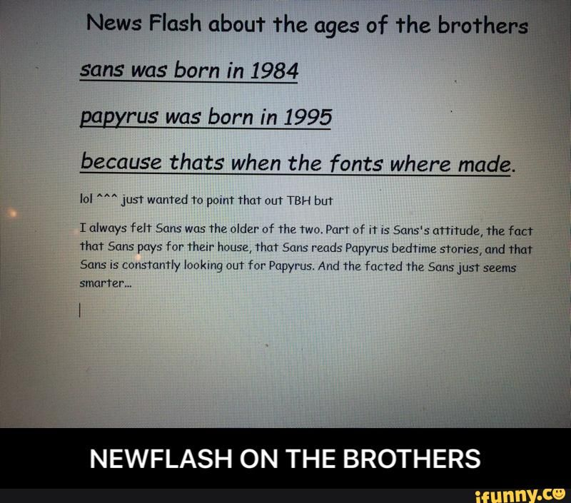 NEWFLASH ON THE BROTHERS