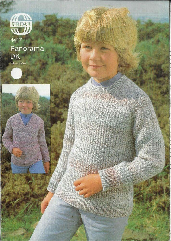 Child's Textured Sweater Sirdar 4417 knitting pattern DK ...