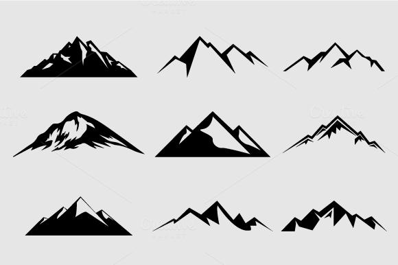 Mountain Shapes For Logos Vol 2 Mountain Logos Mountain Tattoo Creative Market