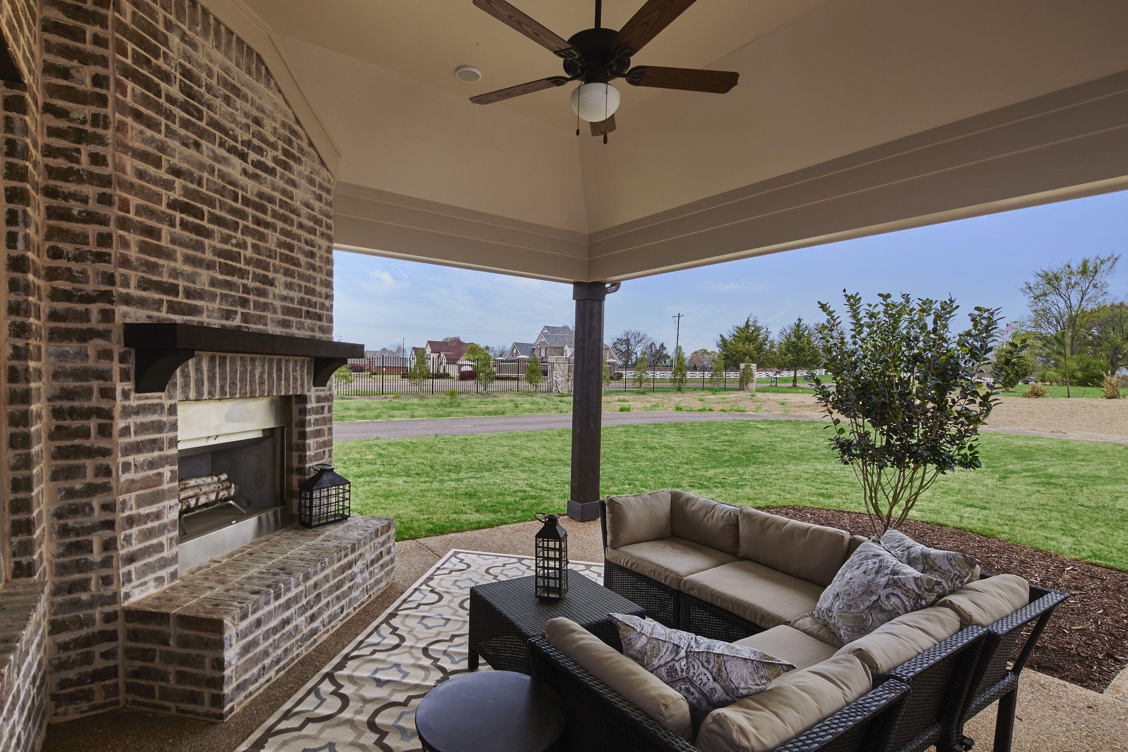 Regency Homebuilders Outdoor Living Area Brick Fireplace Building A House Outdoor Living Areas Outdoor Living