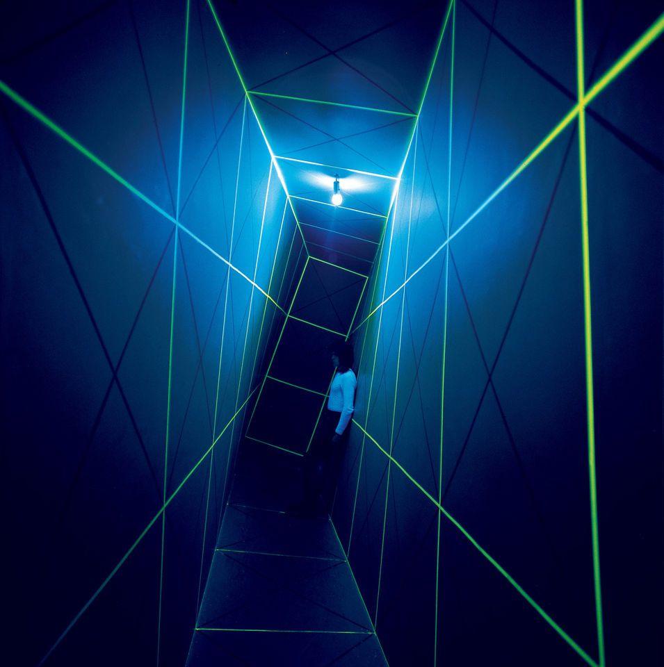 GIANNI COLOMBO - Environment - Topoestesia – tre zone contigue ... for Black Light Installation Art  53kxo