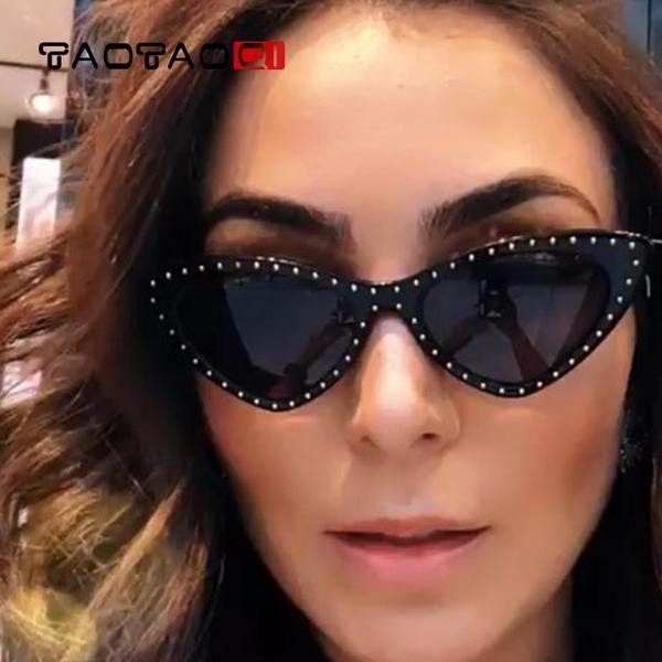 df71c797bd8 Taotaoqi Brand Cat Eye Sunglasses Women Luxury Designer Triangle Small Frame  Sun Glasses Women Uv400 Female Eyewear Oculos