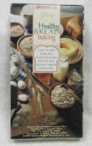 Your Guide to Healthy Bread Baking VHS