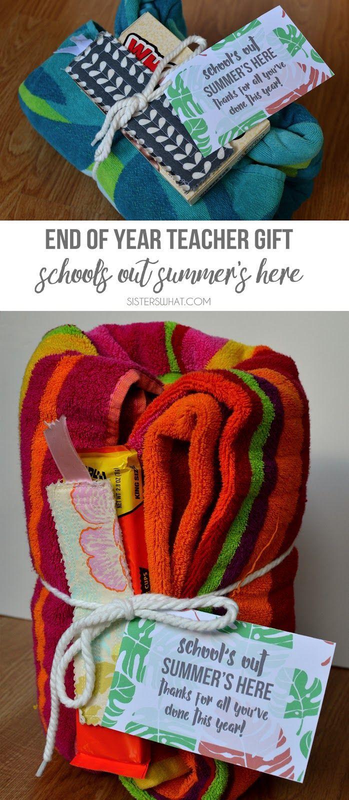 End of the Year Teacher Gift Ideas -