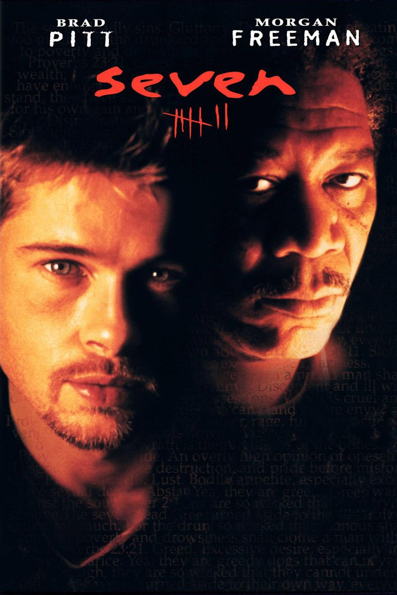 #145 Seven 1995 (Dir. David Fincher. With Brad Pitt, Morgan Freeman, Gwyneth Paltrow, Kevin Spacey)