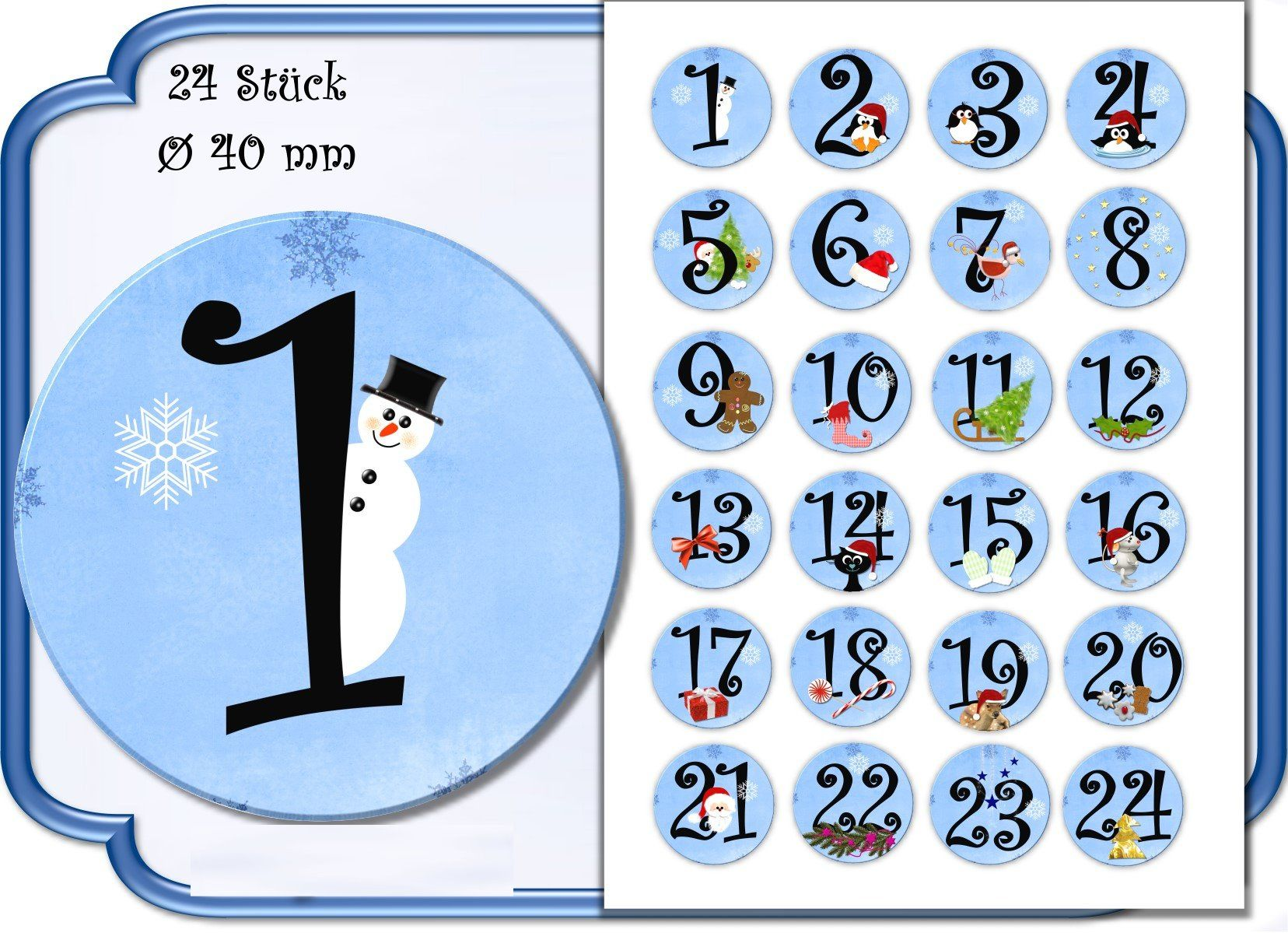 Für Deinen Selbst Gebastelten Adventskalender 24