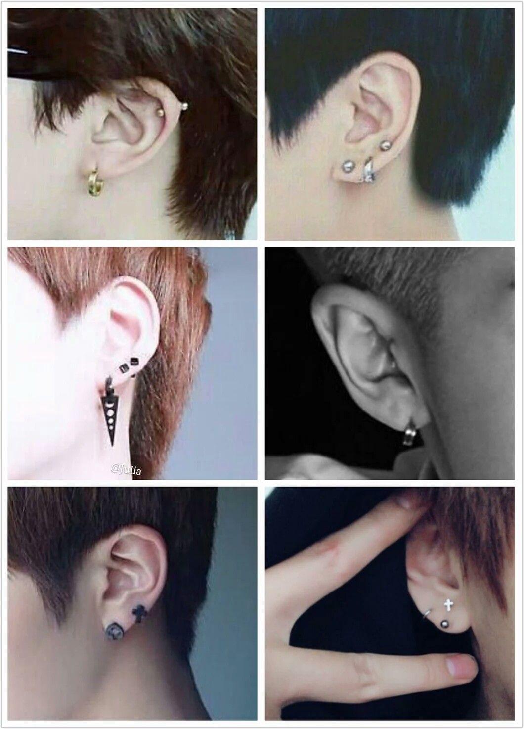 Bts Ear Piercings J Hope S A Man He Doesn T Have Any Brincos Ideias Para Piercings Piercings