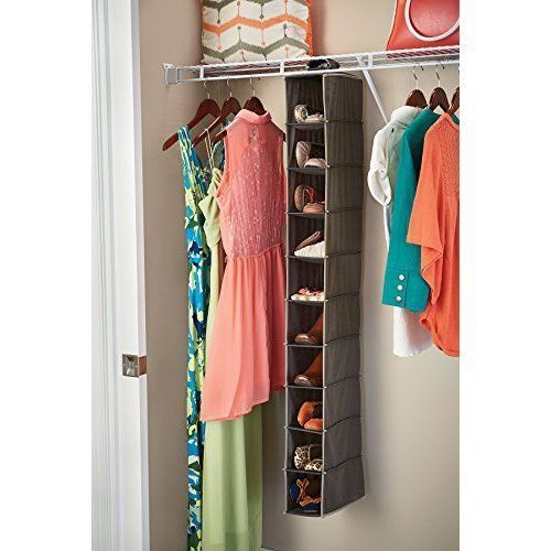 Household Closet Hanging 10-Shelf Clothes Purse Accessories Organizer Storage #ClosetStorage