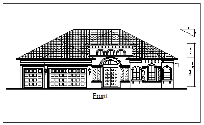 Roof Type Elevation Design Drawing Of House Design Drawing House Design Drawing House Drawing House Design