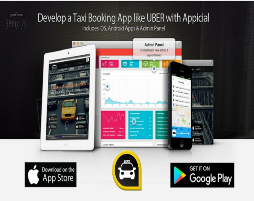 Start the next uber with appicial taxi app. Visit http