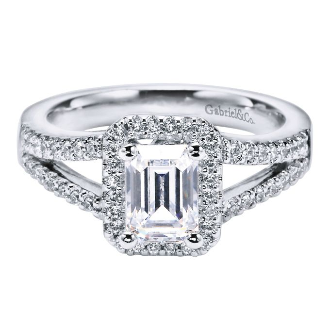 emerald cut engagement rings emerald cut halo