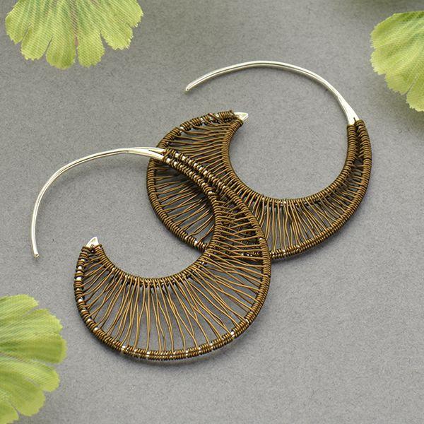 silver hoop earrings, ready to wear jewelry, wire wrapped earrings ...