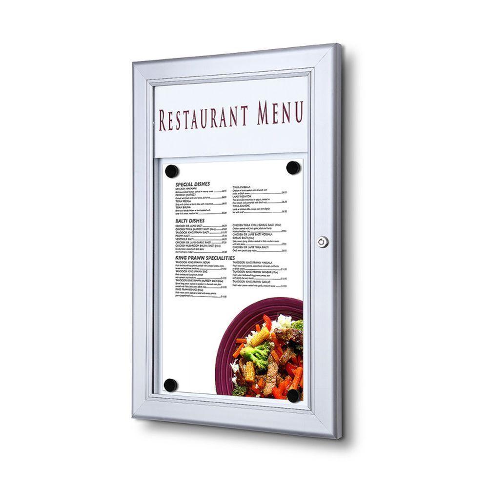abschließbar für DIN A4 Schaukasten für Speisekarten wetterfest u
