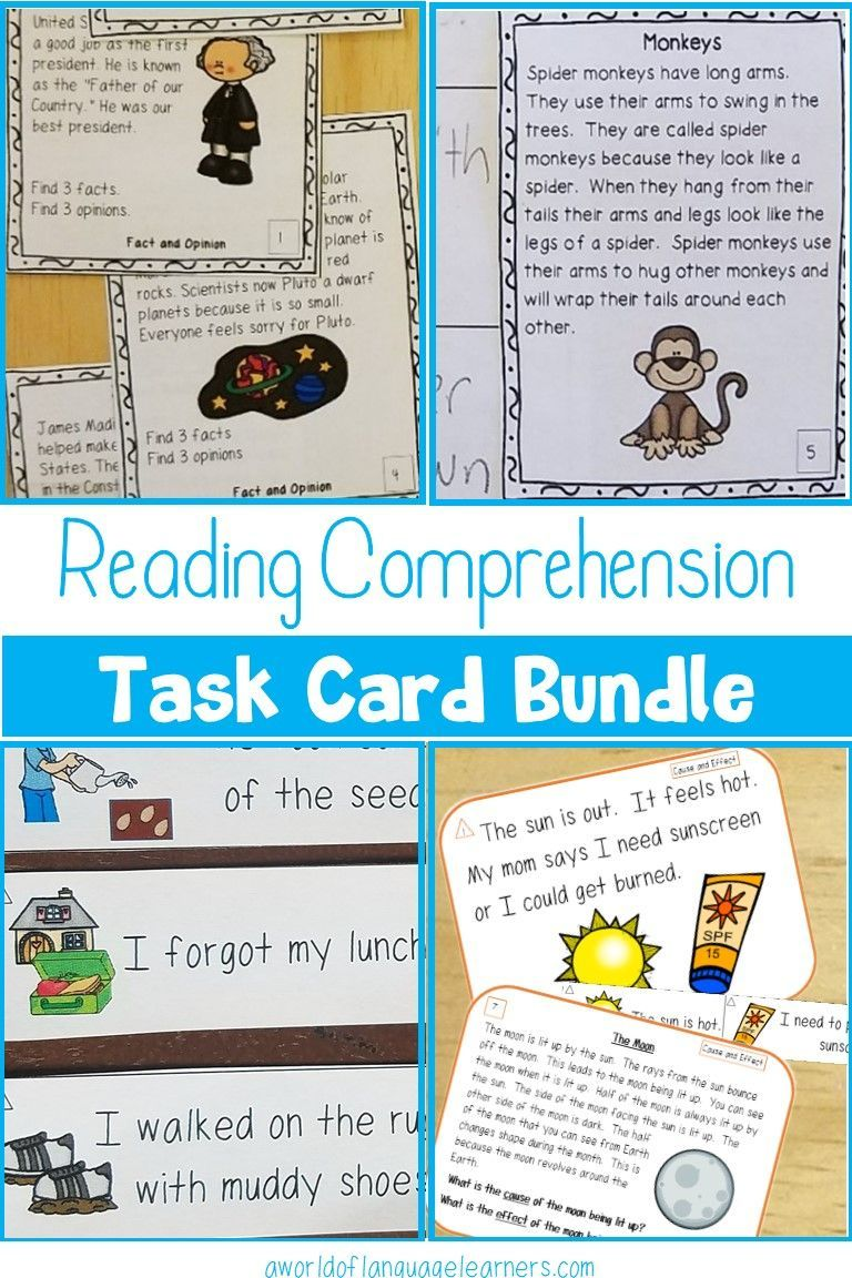 Stock Up On Reading Comprehension Task Cards With This Bundle Includes Main Ideas Support Reading Comprehension Task Cards Reading Comprehension Task Cards [ 1152 x 768 Pixel ]