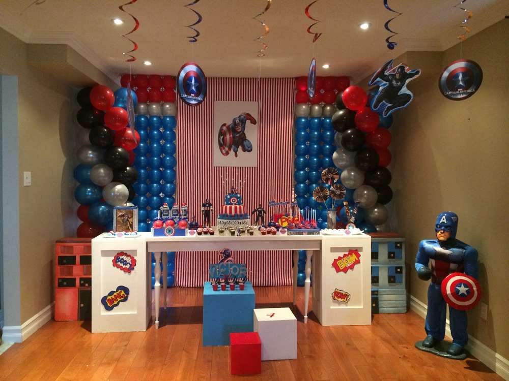 Captain America Birthday Party Ideas In 2019 Lucendos