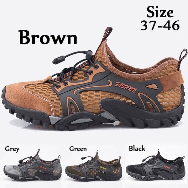2018 Men Outdoor Sneakers Breathable Hiking Shoes Big Size NCwd6