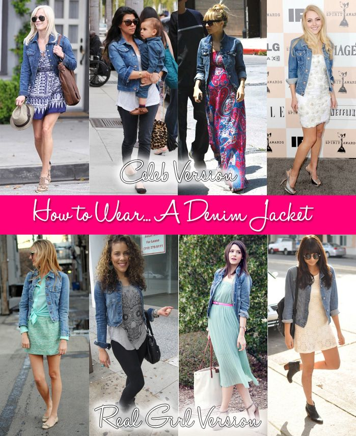 How to Wear... A Denim Jacket | Denim jackets, Wardrobes and ...