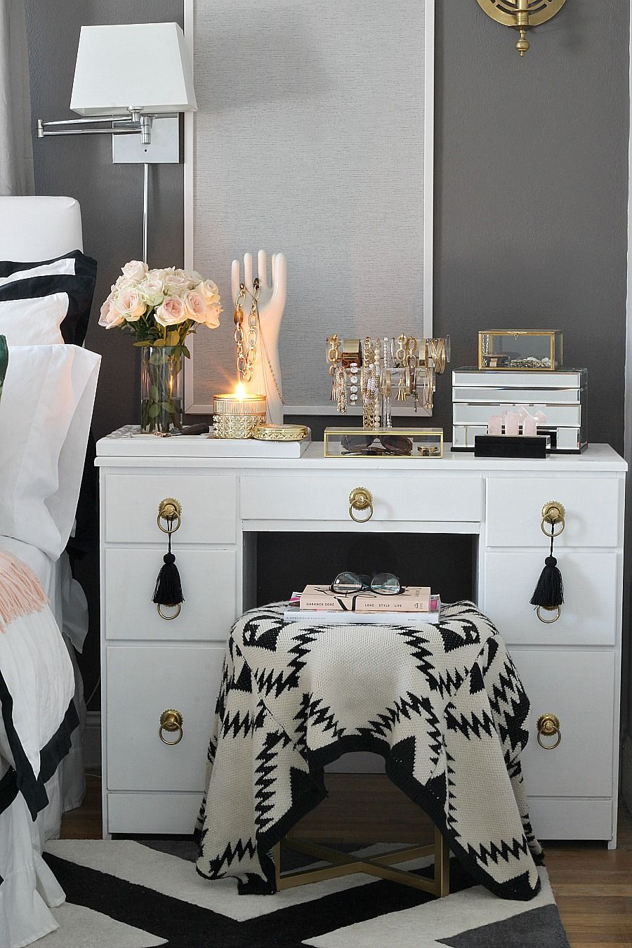 Beautiful jewelry storage via bliss at home inspiring blogger